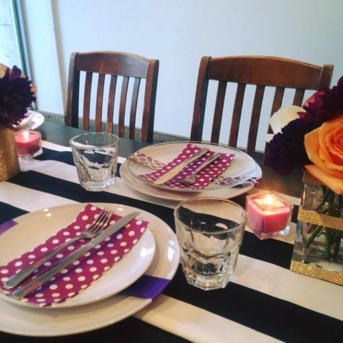 Bridal Shower table setup
