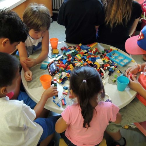 Kids Playing Lego